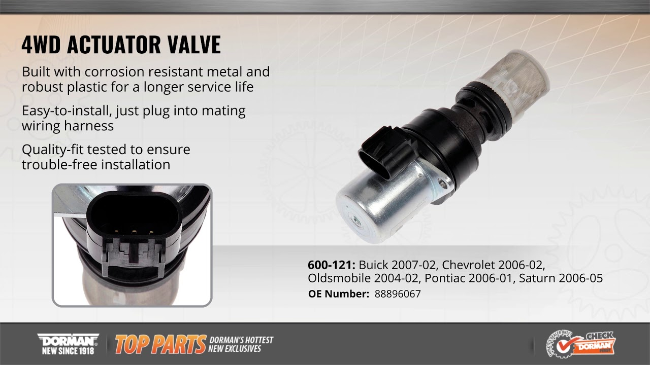 4wd actuator valve 600 121 differential oil flow check valve dorman products [ 1280 x 720 Pixel ]