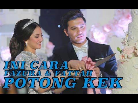 Cara Unik Fattah Amin & Fazura Potong Kek Wedding Resepsi FATTZURA FAIRYTALE