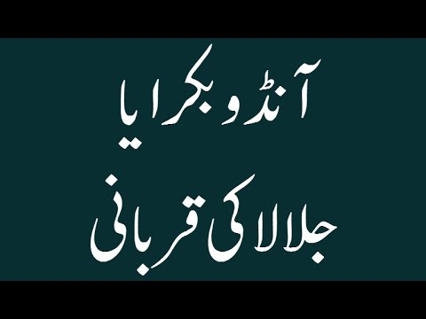 Andu Bakra Ya Jallala Ki Qurbani - Madani Muzakra