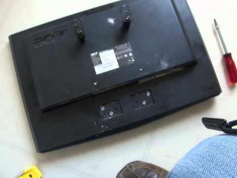 How To Hang A Lcd Tv Without Mounting Bracket Review Youtube
