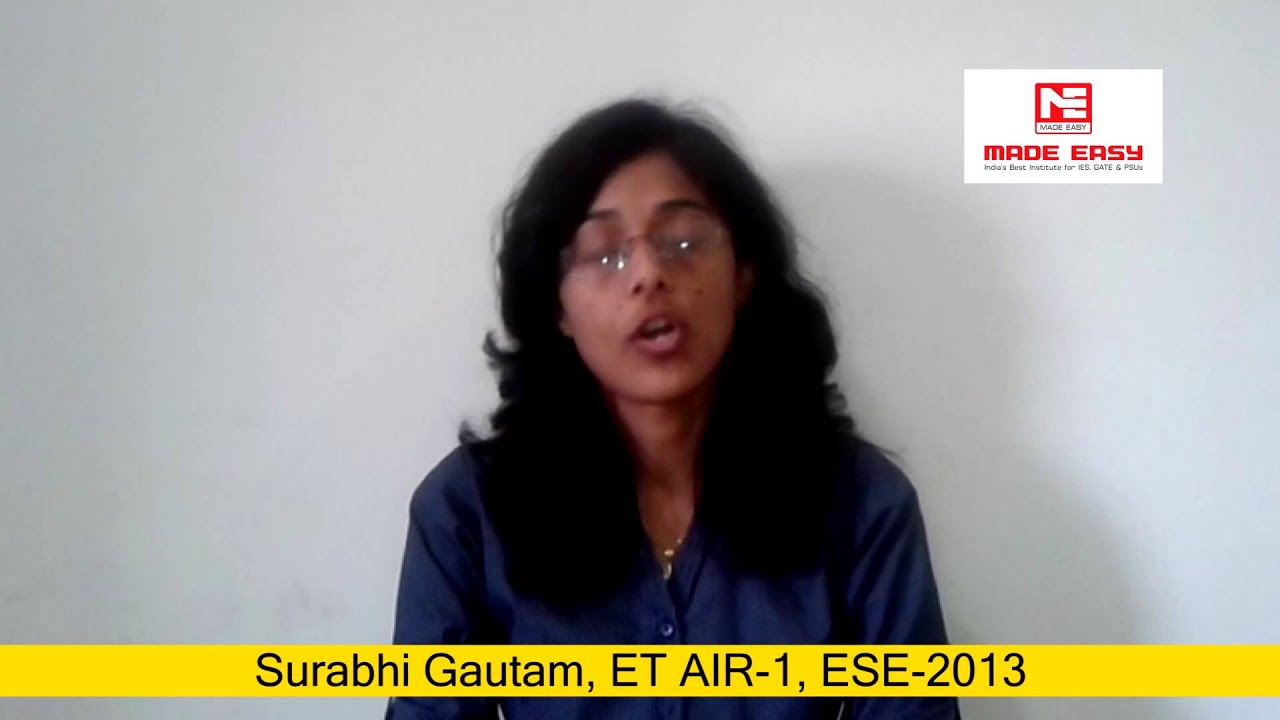 Image result for IES-2013 RANK-1, SURABHI GAUTAM