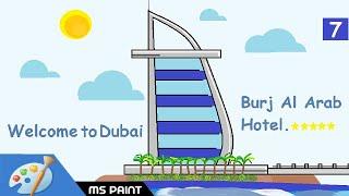 How to Draw Burj Al Arab Hotel in Ms Paint