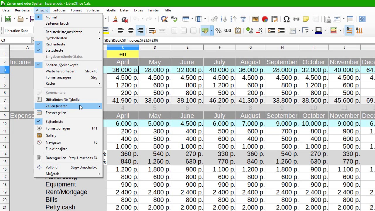 Libreoffice find text