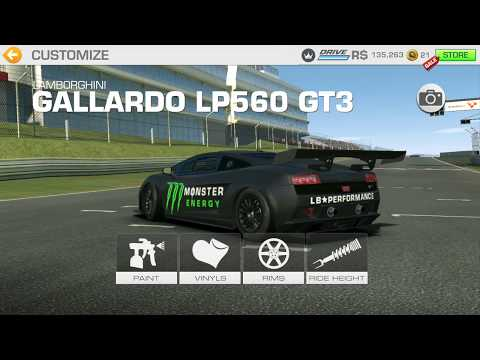 Real Racing 3 Tuning Lamborghini Gallardo Monster Energy