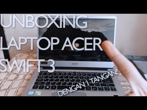 UNBOXING LAPTOP DENGAN 1 TANGAN?? - Acer Swift 3 Acer Day Edition