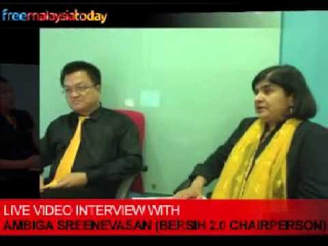 Live Interview with Ambiga Sreenevasan (Bersih 2.0)