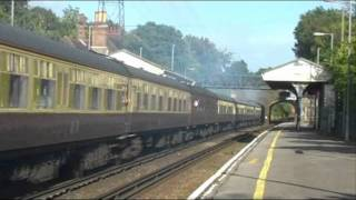 55022 Dorset Deltic Explorer tour at Hinton Admiral 3rd Sept 2011.wmv