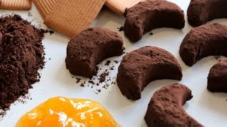 Moon Shaped Cookies (no bake) / كوكيز على شكل القمر - CookingWithAlia - Episode 404