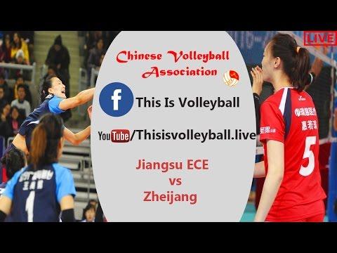 Zheijang vs Jiangsu ECE   19 Mar 2017    FINAL 4   Chinese Women Volleyball League 2016/2017