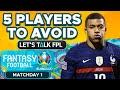 5 Euro 2020 Fantasy Players to AVOID | Euro 2020 Fantasy Tips