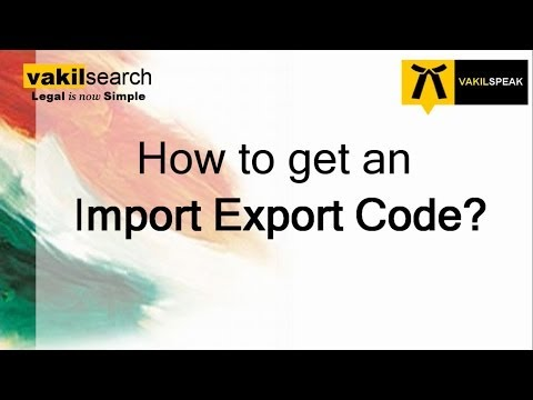How to get an Import Export Code?