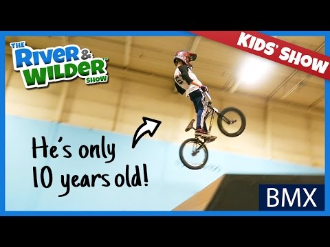 BOYS GET BMX BIKE FREESTYLE TRICKS LESSON FROM 10 YEAR OLD PRO