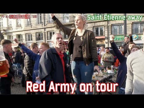 Red Army on tour in Saint Etienne (St Etienne - Manchester United)