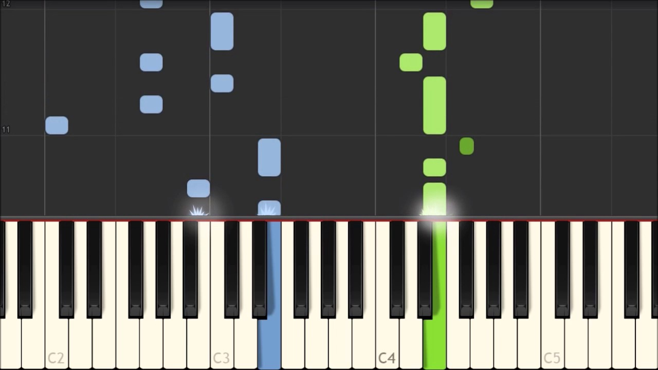 Star of the County Down - Irish Folksong [Piano Tutorial] (Synthesia)