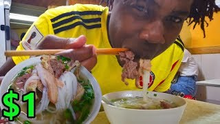 Black Guy Tries PHO for the First Time in Vietnam 🇻🇳