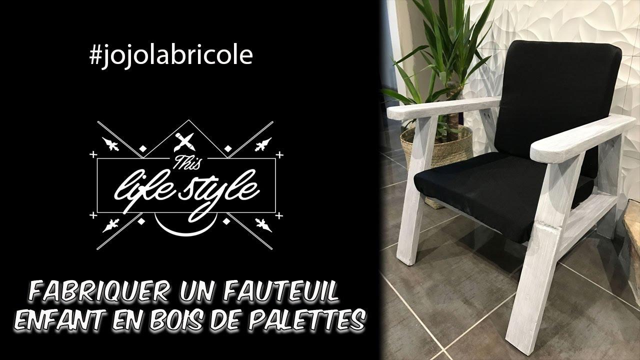 Patio En Bois De Palette fabriquer un fauteuil enfant en bois de palettes