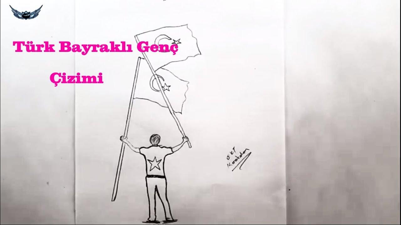Turk Bayrakli Turk Genci Nasil Cizilir 7 29 Ekim Ile Ilgili