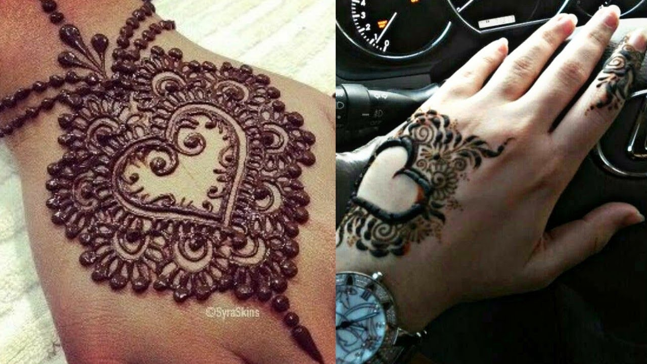 Valentine S Day Special Heart Shape Mehndi Design Heart Shape