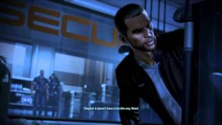 -Mass Effect 3 Spoilers- Renegade maleshep deals with Wrex