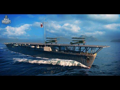 Самый лучший авианосец 4 уровня в World Of Warships (WOWS) - Hosho