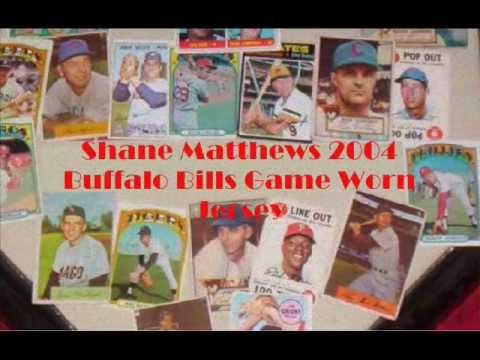 Introduction to Sports Memorabilia-Shane Matthews 2004 Buffalo Bills Home Jersey
