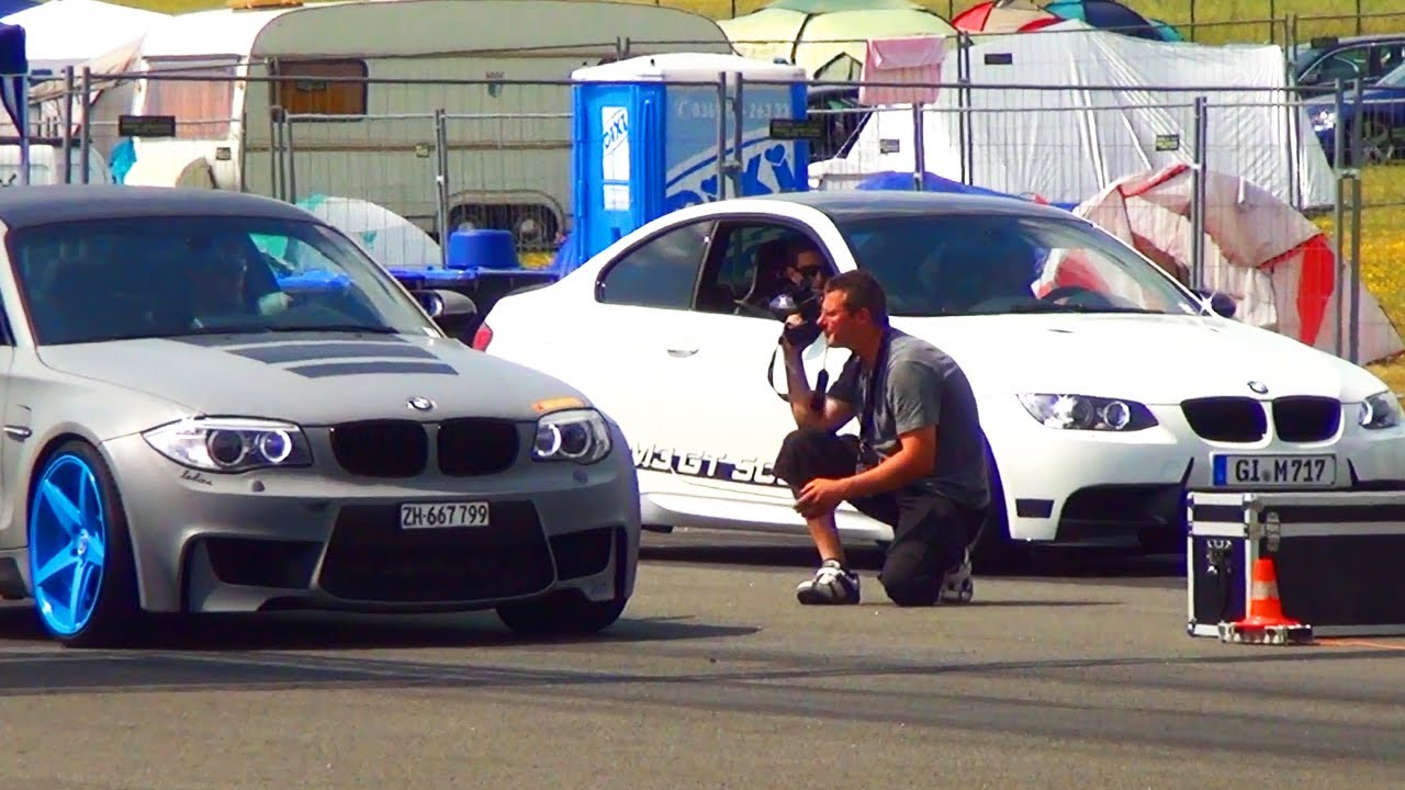 bmw m3 e92 vs bmw 1er m coupe drag race 1 4 mile. Black Bedroom Furniture Sets. Home Design Ideas