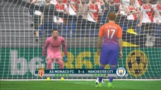 Monaco vs Manchester City   Penalty Shootout   PES 2017 Gameplay