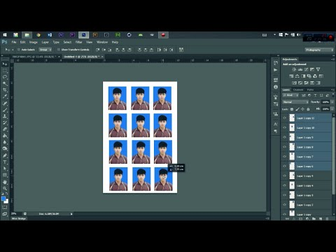 วิธีทำรูปติดบัตร โดยใช้ Photoshop