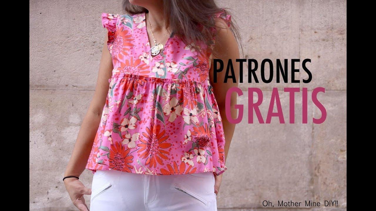 f29e46a6f Costura: Como hacer blusa con volantes (patrones gratis) - YouTube