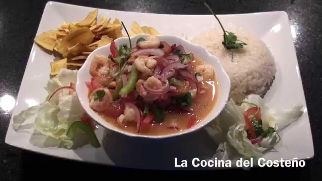 Ceviche ecuatoriano de camaron la cocina del coste o - La cocina del 9 ...