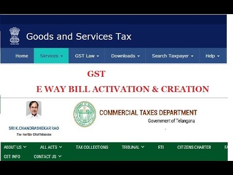 GST E-WAY BILL ACTIVATION AND GENERATION