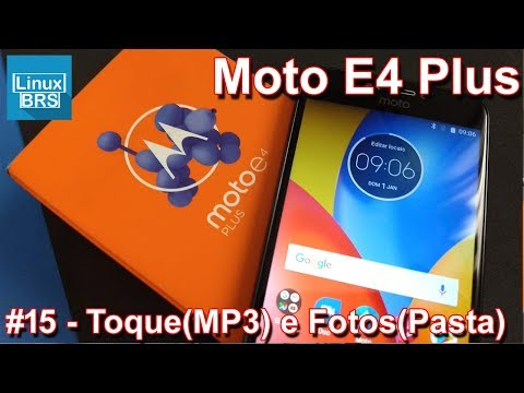 Motorola Moto E4 Plus -Toque padrão com MP3 e Pasta na galeria de fotos