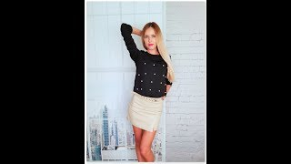 Мини юбка из pu кожи с AliExpress | #Jelena_shoping |#Colorfaith | Видео обзор