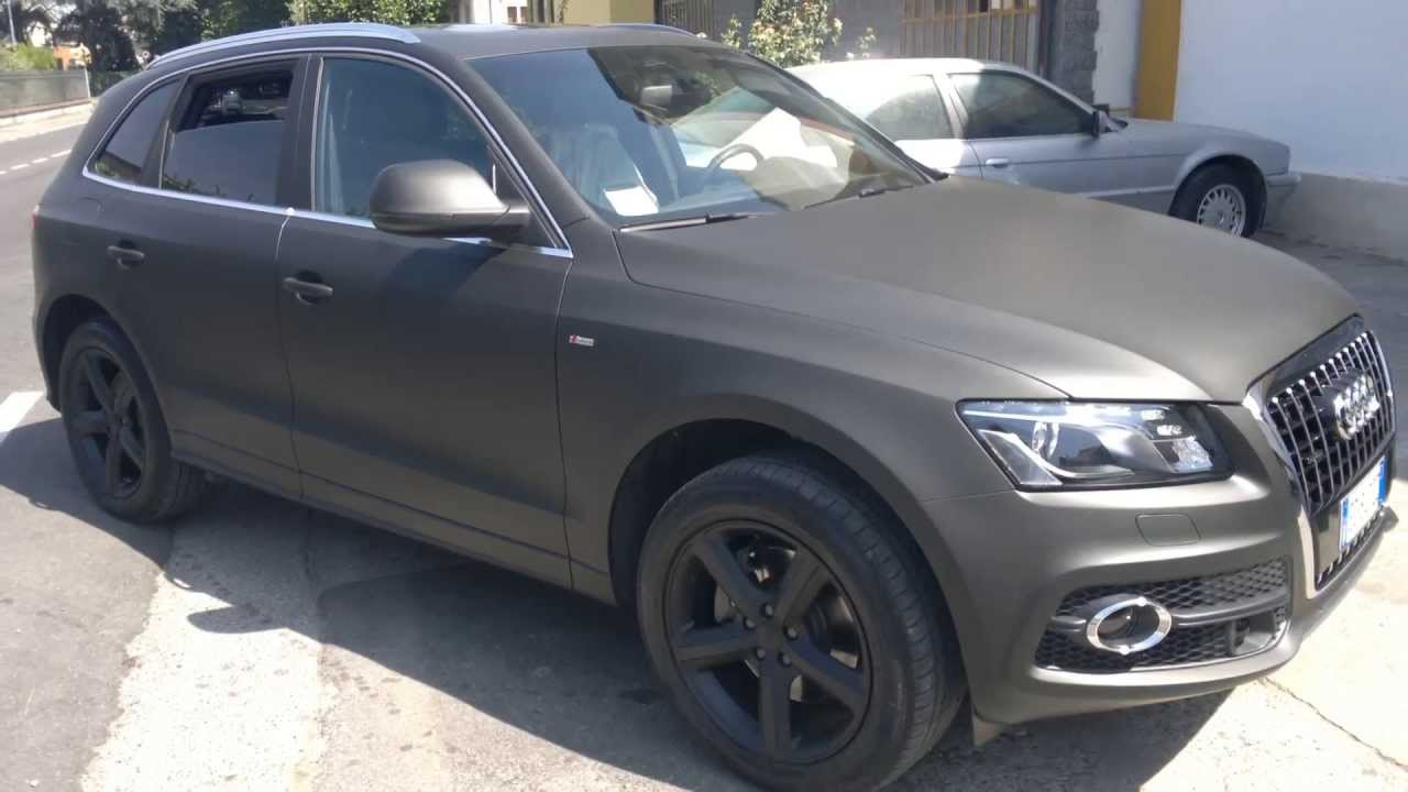 Audi Q 5 Car Wrapping Piacenza Nero Opaco 3m By La Nuova