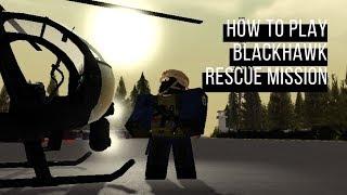 Roblox Como jogar Blackhawk missão de resgate