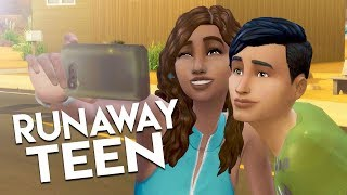 DISASTER DATE?! // The Sims 4: Runaway Teen Challenge #11