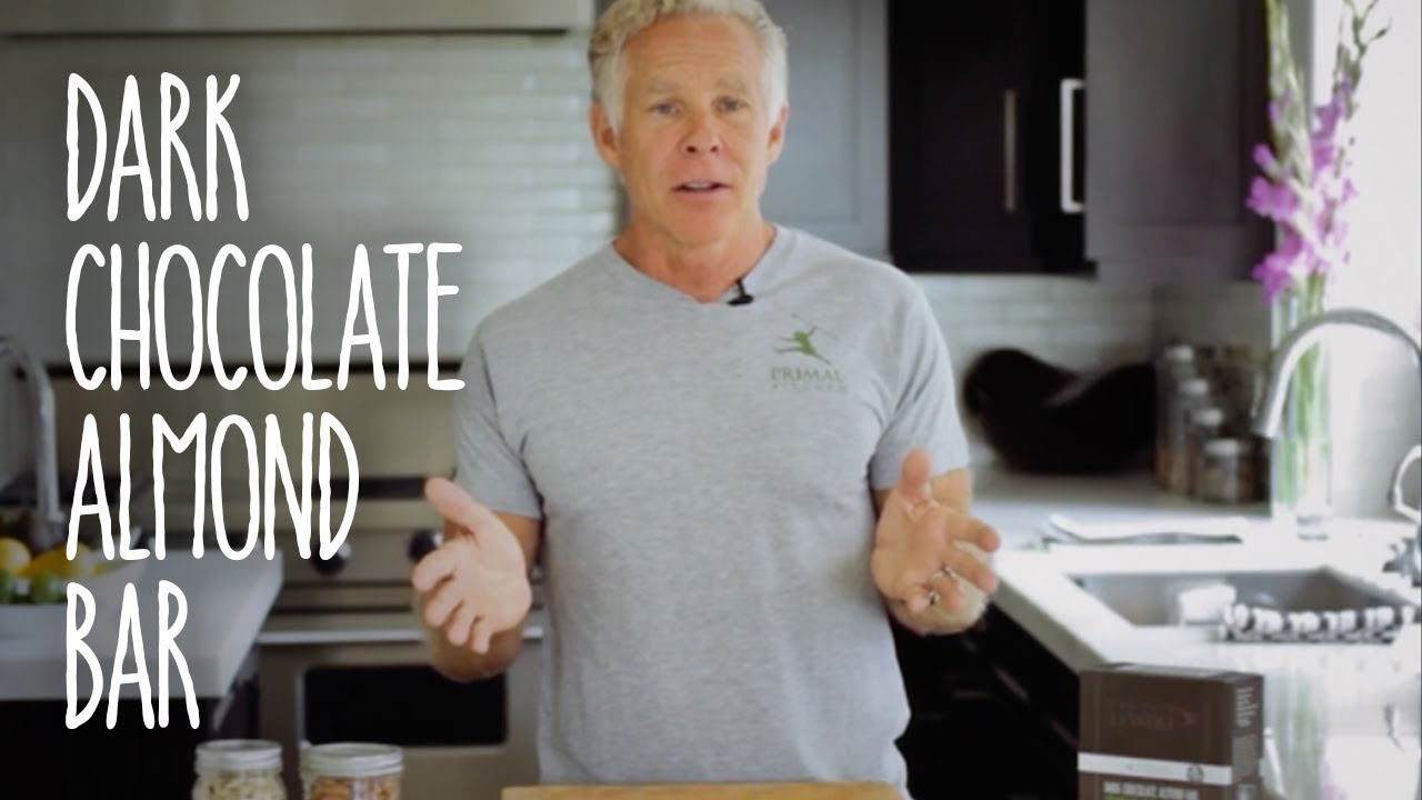 primal kitchen dark chocolate almond bars - youtube