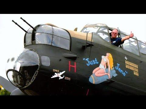 Interior Tour Of Avro Lancaster MK.VII NX611 'Just Jane'