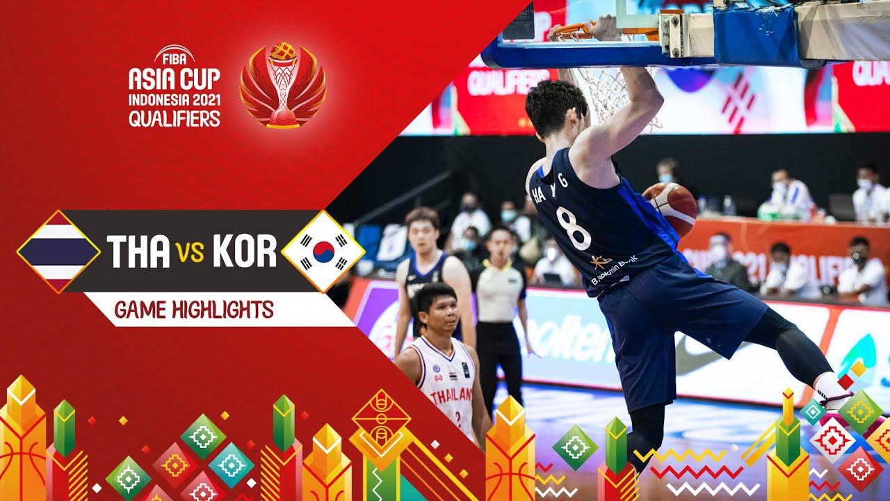 Thailand - Korea | Highlights - FIBA Asia Cup 2021 Qualifiers