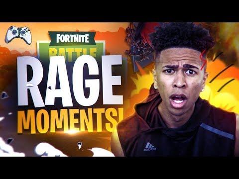 MY BIGGEST RAGE MOMENTS ON FORTNITE! BROKE 2 CONTROLLERS IN 1 GAME!