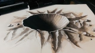 Drawing a 3D Crater - 3D Hole