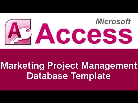 Microsoft Access Marketing Project Management Database Template