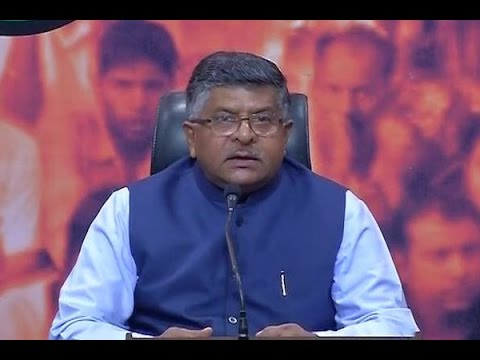 Arvind Kejriwal is inspired by Pakistani media channels: Ravi Shankar Prasad
