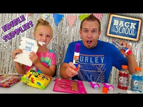 How to Sneak Candy Into Class!!! DIY Edible School Supplies & School Pranks!