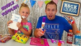 How to Sneak Candy Into Class!!! DIY Edible School Supplies & School Pranks!