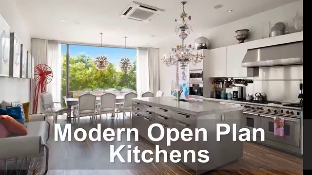 Stunning modern kitchens with open floor plans