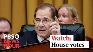 WATCH LIVE: House votes on authorizing civil actions to enforce subpoenas on Trump, aides