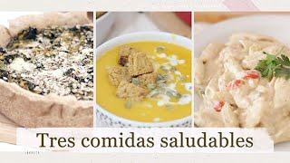 3 COMIDAS SALUDABLES FACILES Y RICAS 😋   Veganas   Argentina   HelloSunshineArg