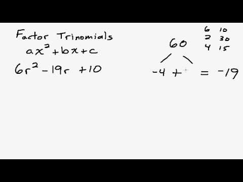 Examples of Factoring Trinomals Using the AC Method - YouTube