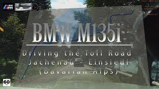 BMW M135i Walchensee (Bavarian Alps) Toll Road Jachenau - Einsiedl Drive Analyser RaceRender